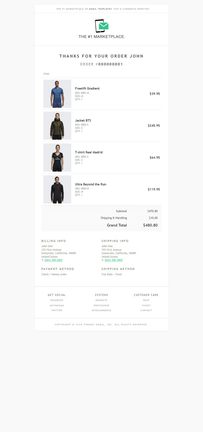 Brook Magento Email Template