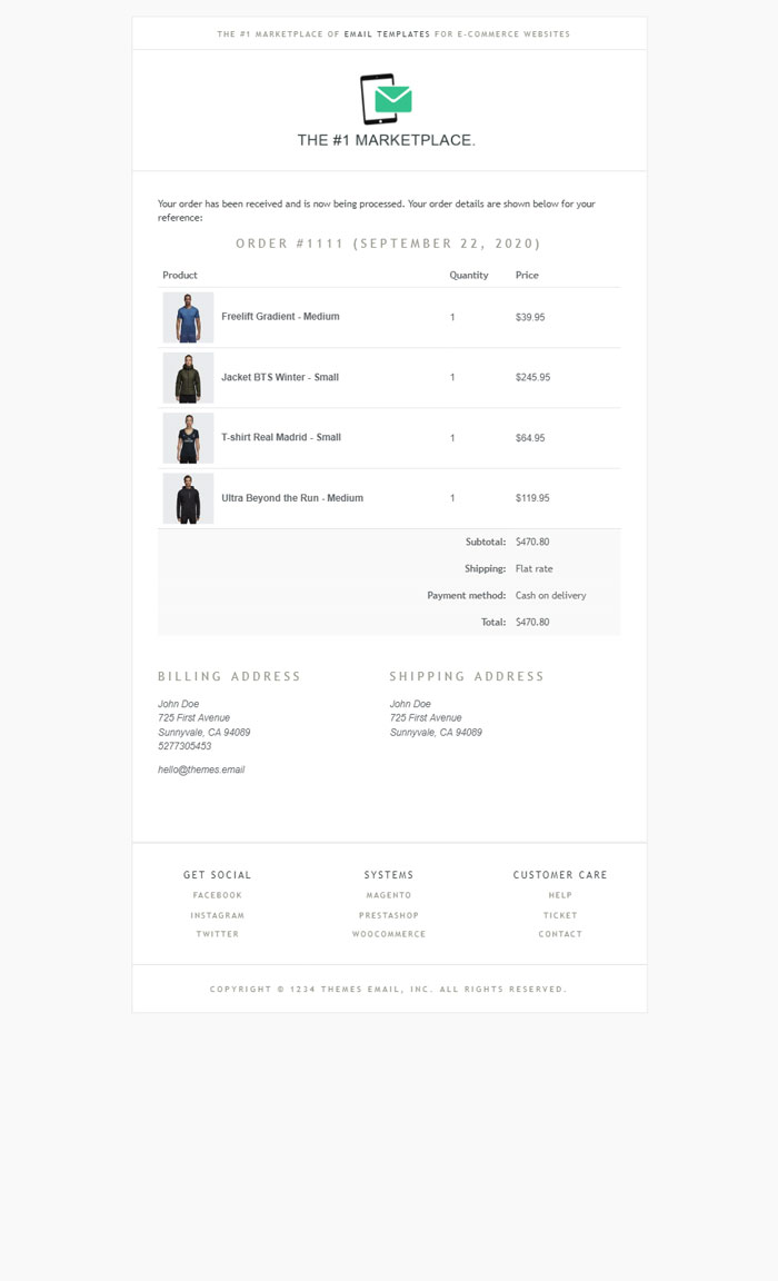 Brook WooCommerce Email Template